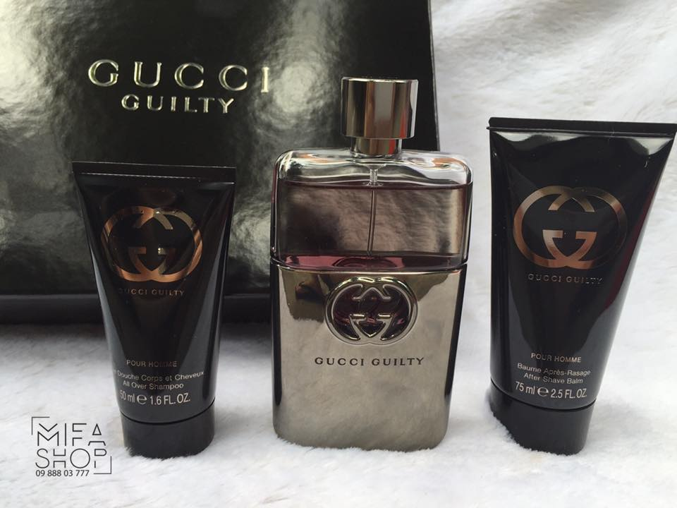 GIFT SET GUCCI GUILTY POUR HOMME 90ML