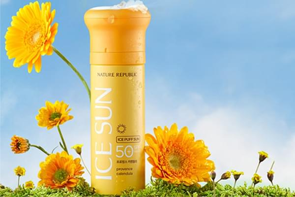 Kem Chống nắng Ice Puff Sun Nature Republic SPF 50