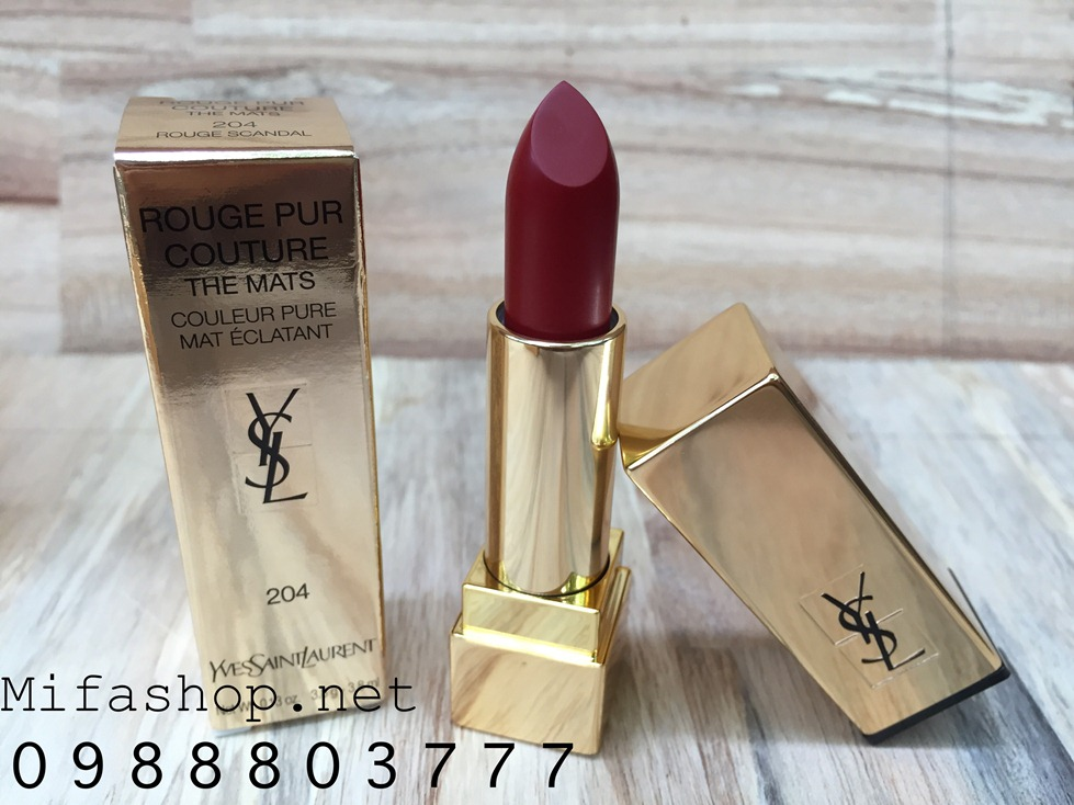 SON YSL ROUGE PUR COUTURE THE MATS 204-ROUGE SCANDAL