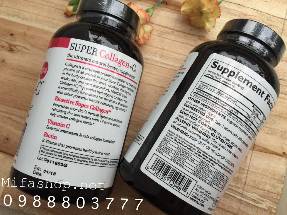 SUPER COLLAGEN + C NEOCELL 360 VIÊN BỔ SUNG BIOTIN 5000MG