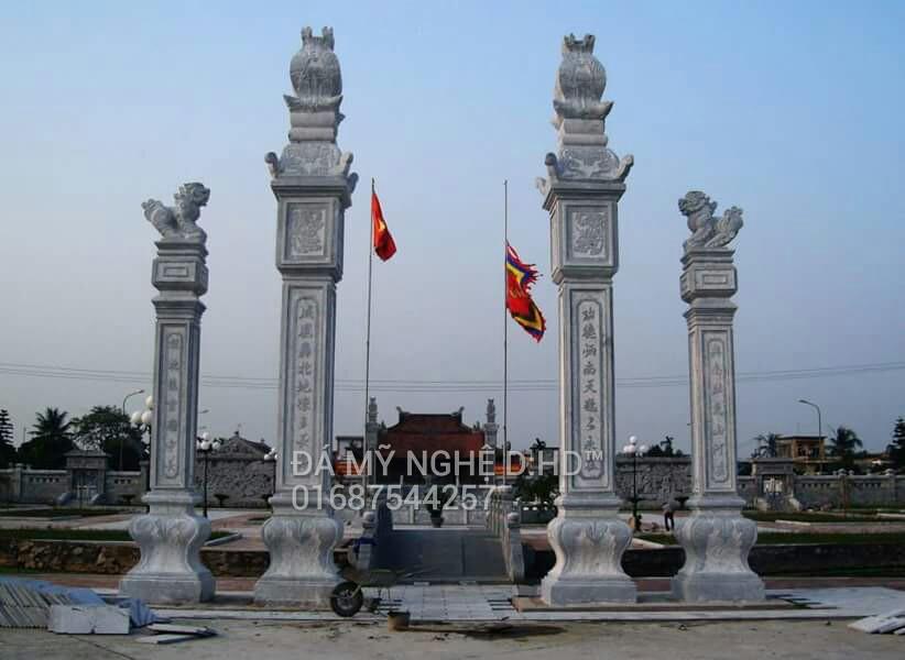 Cột đá đồng trụ cổng