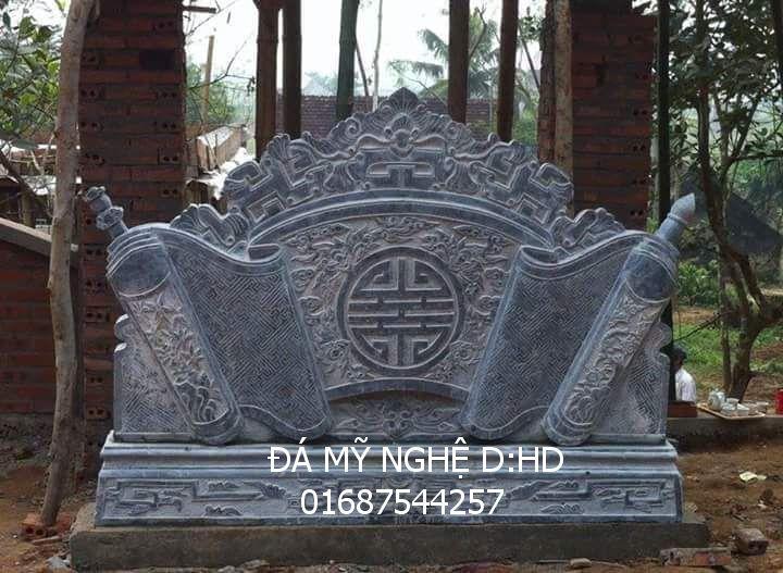 cuôn thư đá cổng khu lăng mộ