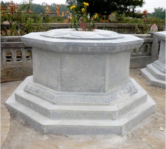 họa tiết cánh sen trên mộ đá