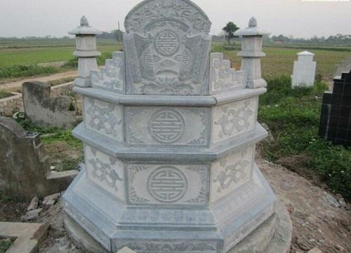 mặt sau mộ lục giác