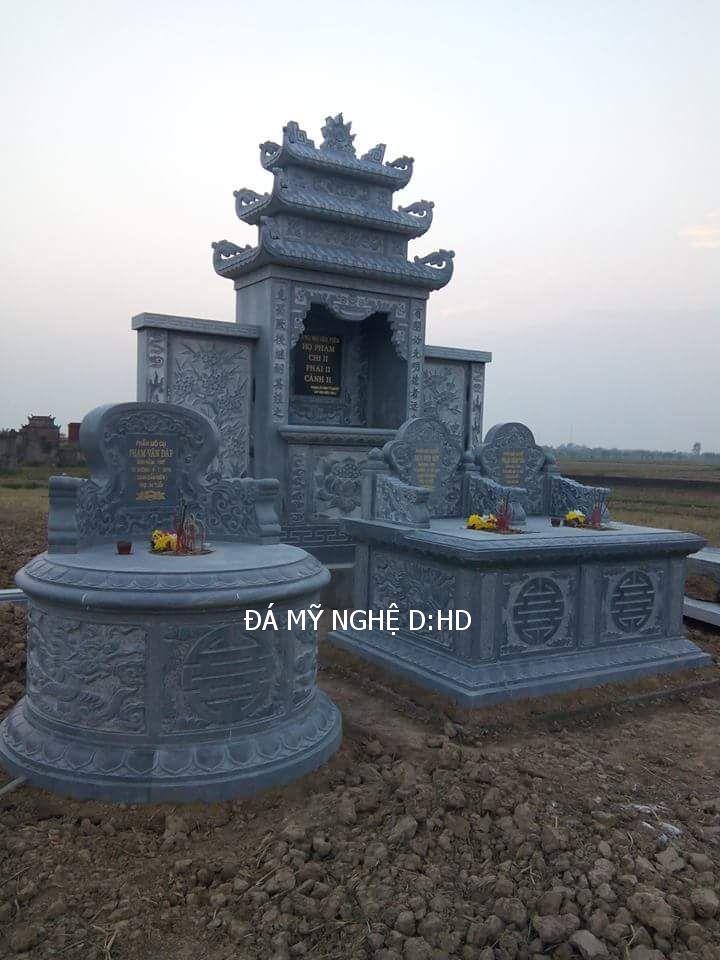 Mẫu mộ đá tròn