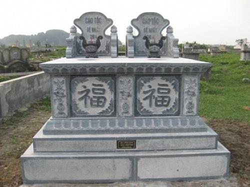 mộ đá đôi không mái