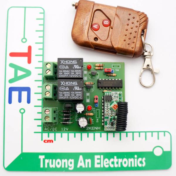 Bộ điều khiển 2 thiết bị qua sóng RF giá rẻ