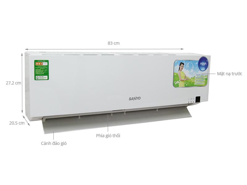 Thông số kỹ thuật Máy lạnh Sanyo SAP- KC9ZGES 1.0 Hp