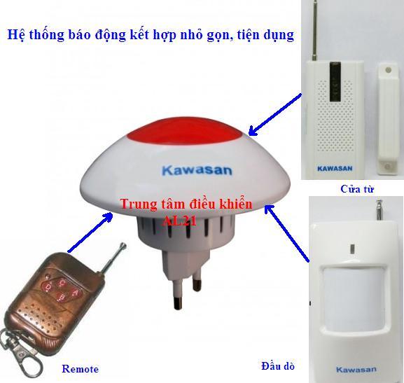 Hệ thống báo động kết hợp, nhỏ gọn, tiện lợi