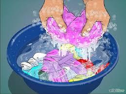 Giăt tay đối với quần áo mới, không sử dụng hóa chất giặt là