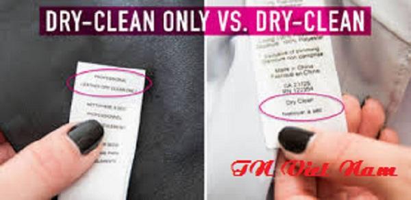 Phân biệt giặt khô và giặt ướt