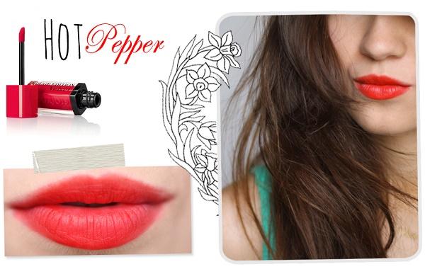 5 Thỏi Son Màu Đỏ Cam Được Các Chị Em Khen Nức Nở, thỏi Son lì Velvet 03 Bourjois Rouge Edition Hot Pepper