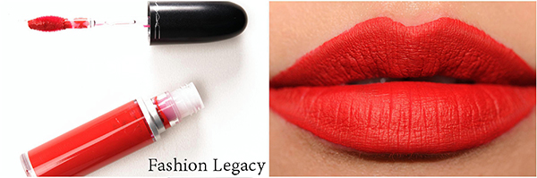 Review Bảng Màu Son MAC Retro Matte Liquid Lip Color Kem Lì màu fashion legacy đỏ tươi