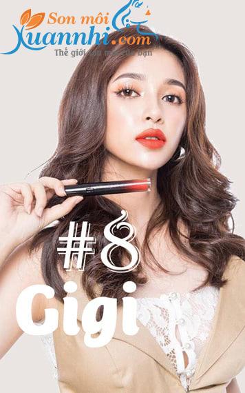 5 Thỏi Son Màu Đỏ Cam Được Các Chị Em Khen Nức Nở, Son Chu Lipstick màu 08 GiGi