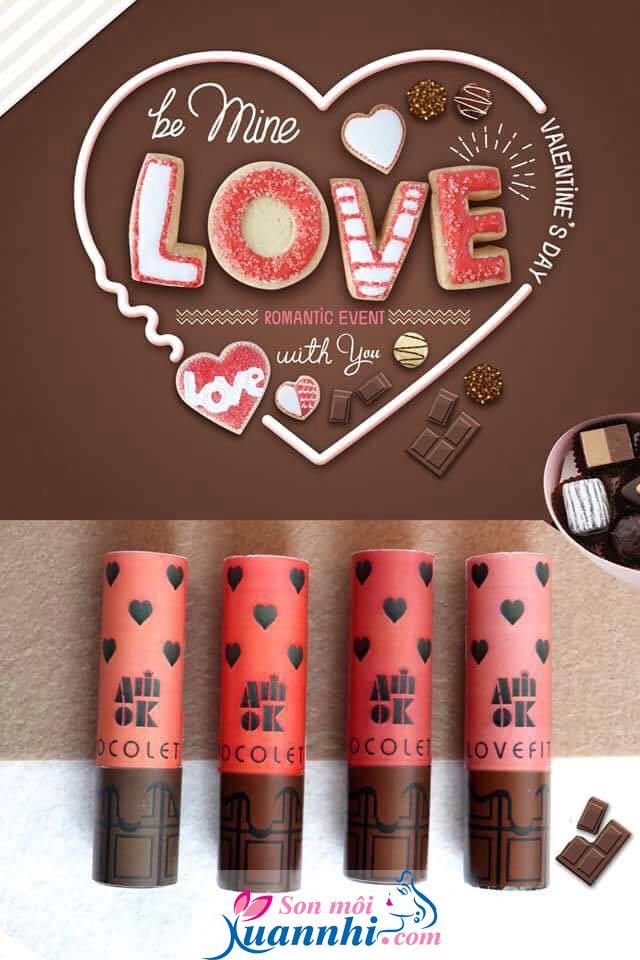 Những Thỏi Son Môi Màu Đỏ Hồng Của Hãng Nào Đẹp - Phù Hợp Với Da Nào,Son Amok Lovefit Chocolate Valentine Collection