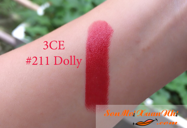 Review son 3CE Red Recipe #211 Dolly đẹp nức nở