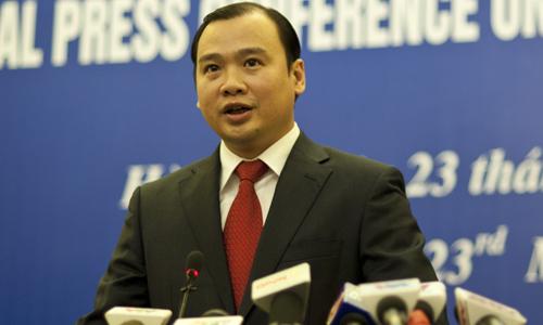 Phát ngôn viên Bộ Ngoại giao Việt Nam Lê Hải Bình. Ảnh: Nguyên Anh