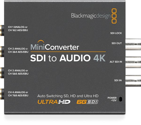 Mini Converter SDI to Audio 4K