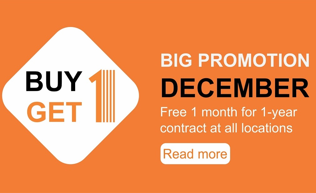 Big Promotion in December: BUY 1 GET 1