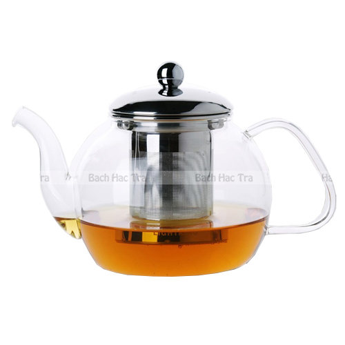 ấm trà thủy tinh 800ml lõi lọc inox
