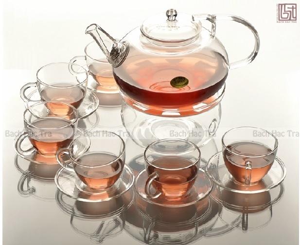 bộ ấm chén trà thủy tinh số 14