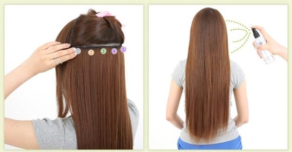 Hướng dẫn sử dụng tóc kẹp