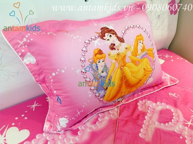 Gối công chúa Disney màu hồng GHH01 - AnTamKids.vn