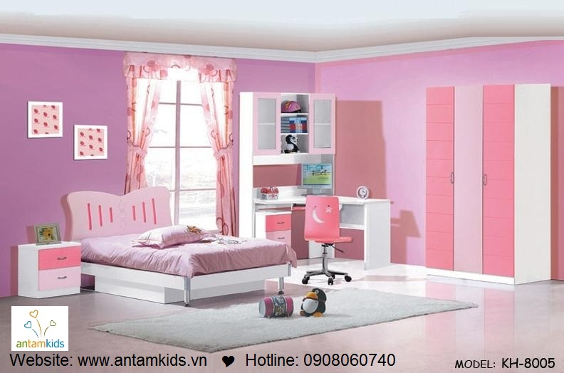 Phòng ngủ trẻ em KH-8005 đẹp thiên thần   PHONG TRE EM ANTAMKIDS