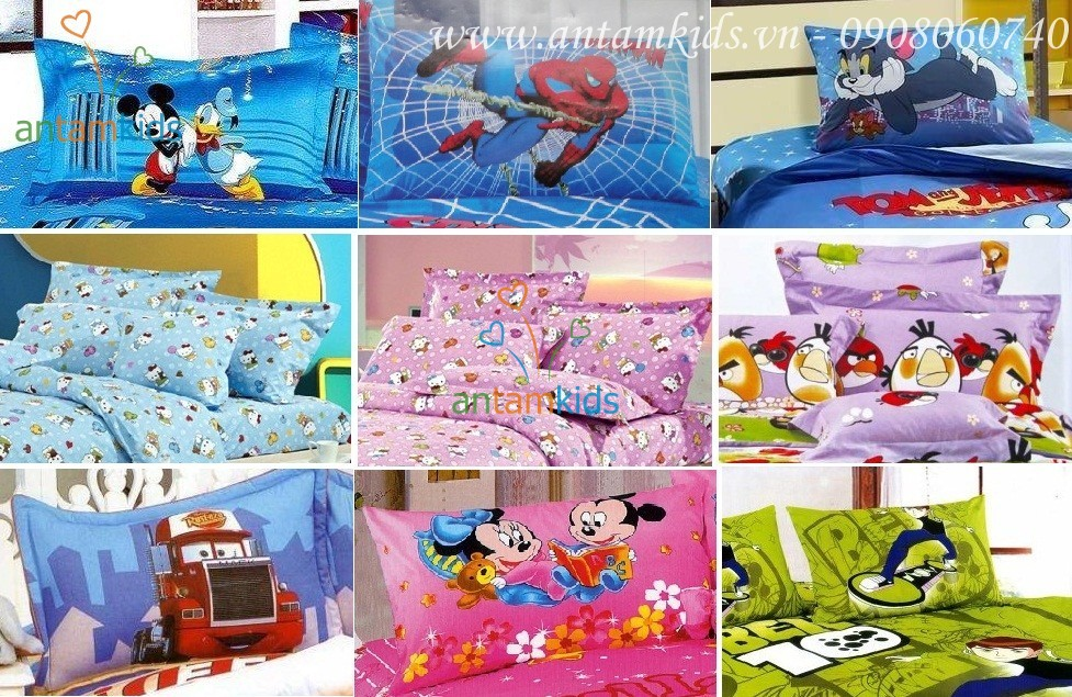 Gối nằm cho bé yêu họa tiết các nhân vật hoạt hình Disney thật dễ thương - antamkids.vn