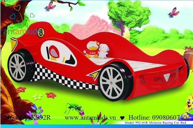 Giường ôtô trẻ em ATK992B màu đỏ cực kute