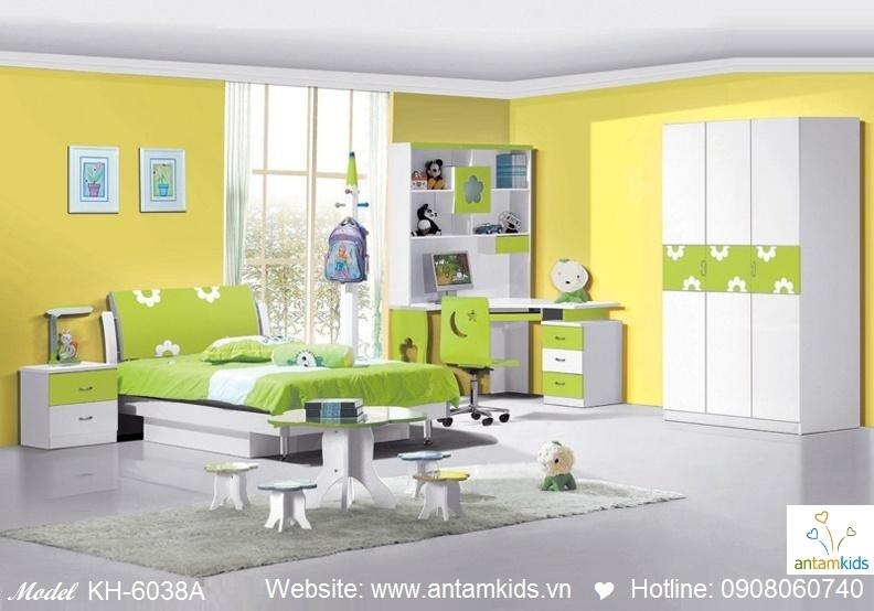 Phòng ngủ trẻ em KH-6038A đẹp thiên thần   PHONG TRE EM ANTAMKIDS