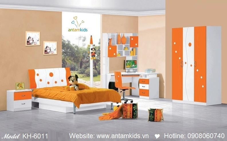 Phòng ngủ trẻ em KH-6011 xinh giá cực tốt  Noi That Tre Em AnTamKids
