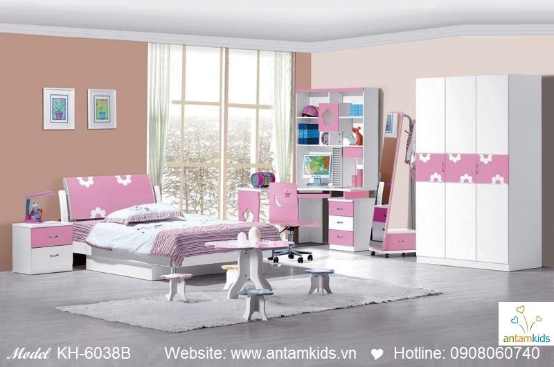 Phòng ngủ trẻ em KH-6038B đẹp thiên thần   PHONG TRE EM ANTAMKIDS