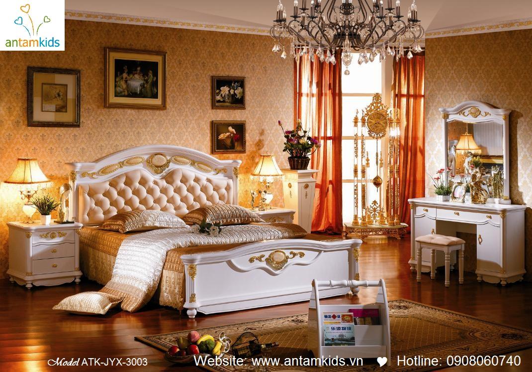 Phòng ngủ phong cách cổ điển phương Tây, phong ngu co dien AnTamKids.vn