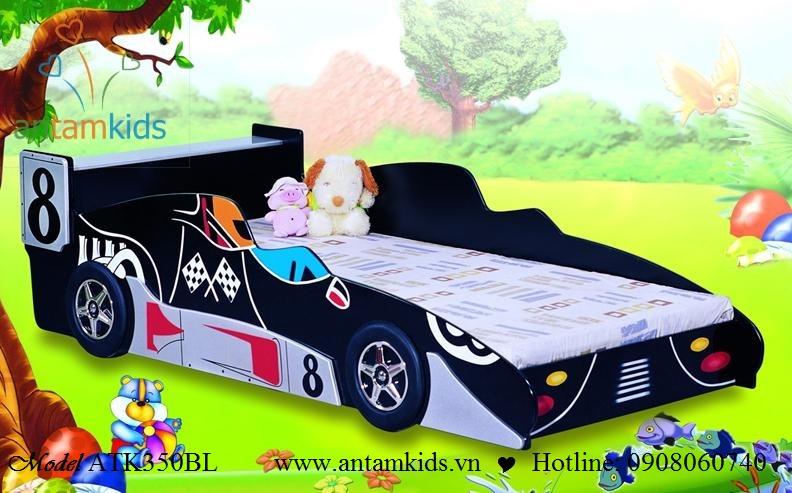 Giường ôtô cho bé trai màu đen ATK350BL