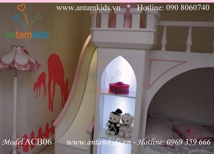 Giường lâu đài công chúa Lucky Princess ACB06