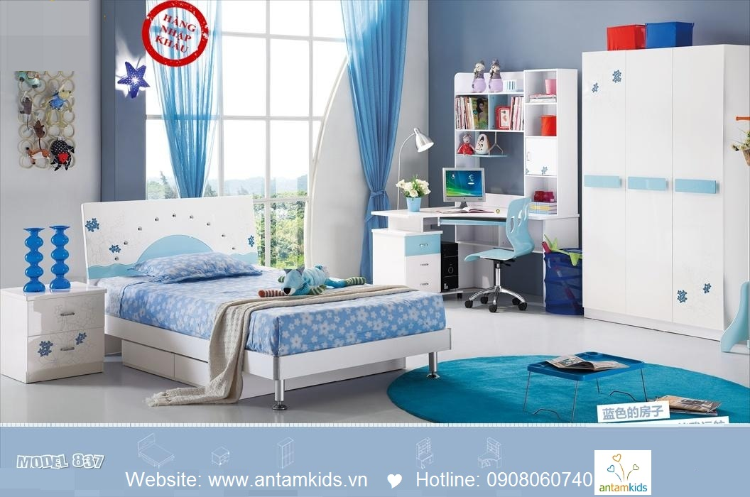 Phòng ngủ trẻ em H837 xinh xắn giá cực tốt| Noi That Tre Em AnTamKids