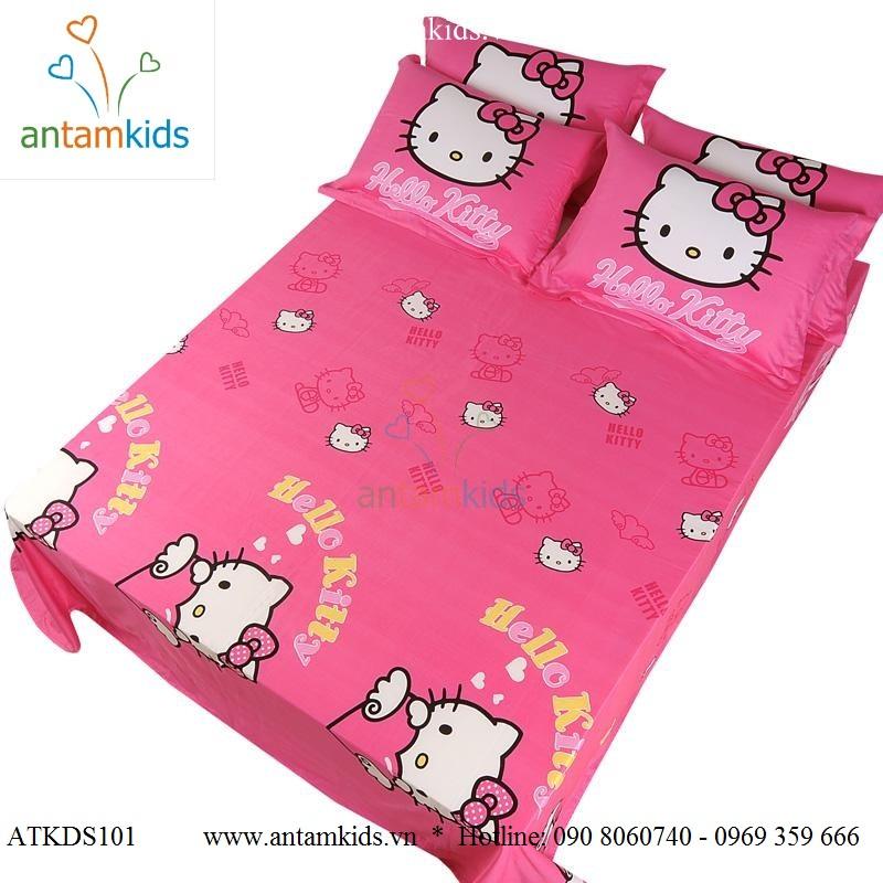 Chăn ga gối Hello Kitty xinh yêu điệu đẹp cho bé gái số 1 tphcm, Hà Nội