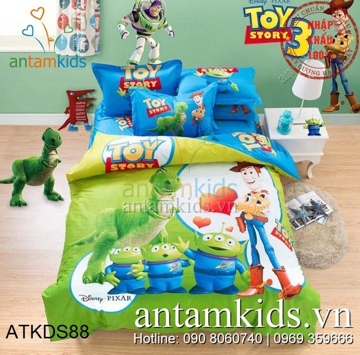 Bộ chăn ga gối Toy Story câu chuyện đồ chơi siêu ngọt ngào của Disney ATKDS88