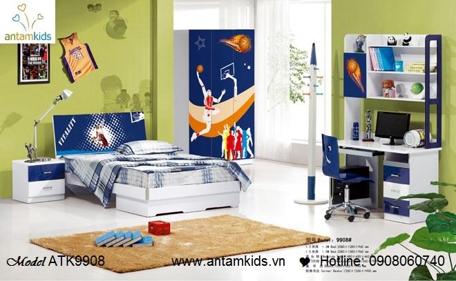 Phòng ngủ trẻ em 3D hoạt hình  cho bé trai   AnTamKids.vn