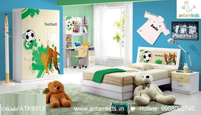 Phòng ngủ trẻ em 3D thể thao  cho bé trai | AnTamKids.vn