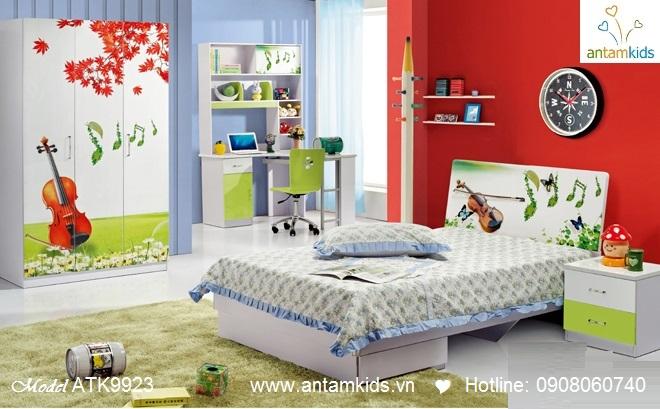Phòng ngủ trẻ em 3D cây đàn nghệ sĩ cho bé trai bé gái   AnTamKids.vn