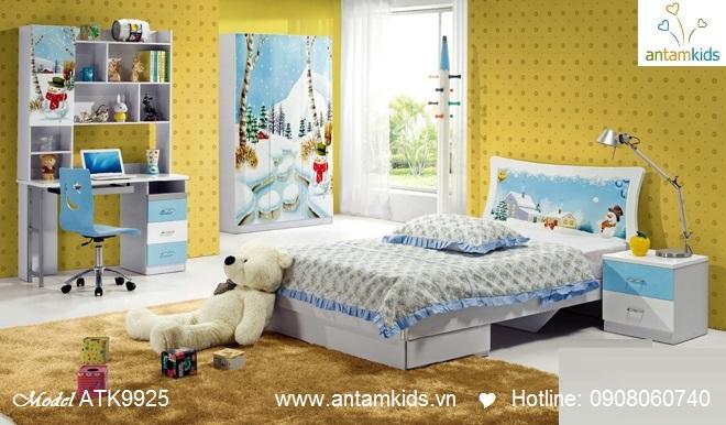 Phòng ngủ trẻ em 3D Noel cho bé trai bé gái   AnTamKids.vn