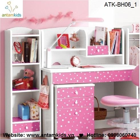 Bàn học trẻ em ATK-BH06 giá tốt nhất cho bé| Noi That Tre Em AnTamKids.vn, màu hồng
