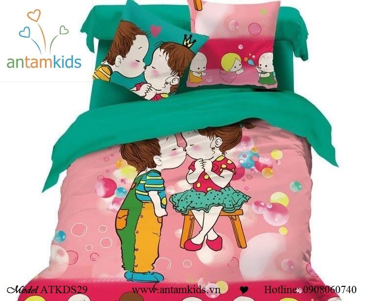 Bộ chăn ga gối ngộ nghĩnh Bebekids cho bé, 100% cotton lụa nhập khẩu, mẫu mới nhất 2013  | AnTamKids.vn