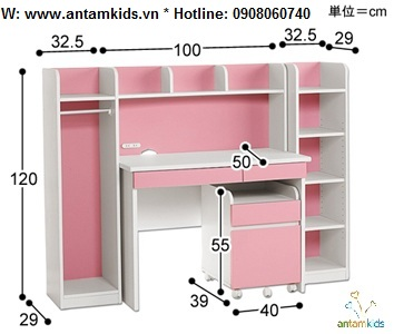 Bàn học trẻ em ATK-BH08 cho bé yêu giá tốt nhất  Noi That Tre Em AnTamKids.vn, style nhật bản