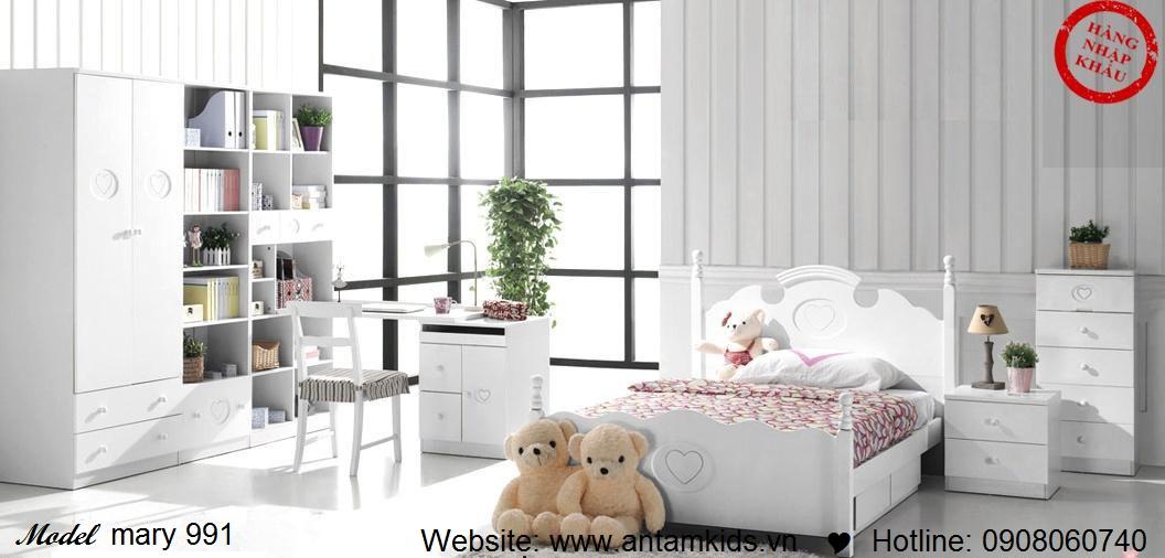 Phòng ngủ cho bé Mary 991 đẹp thiên thần | PHONG TRE EM ANTAMKIDS