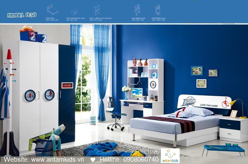 Phòng ngủ trẻ em H838 xinh xắn giá cực tốt  Noi That Tre Em AnTamKids
