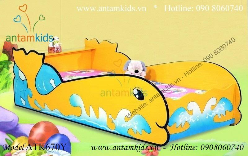Giường ngủ ngộ nghĩnh Cá heo Vàng ATK670Y