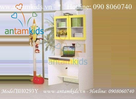 Bàn học 1m cho bé BH0293Y màu vàng - Bàn học trẻ em antamkids